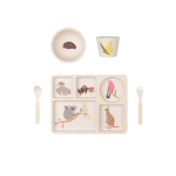 Australiana | 5 Piece Bamboo Dinner Set