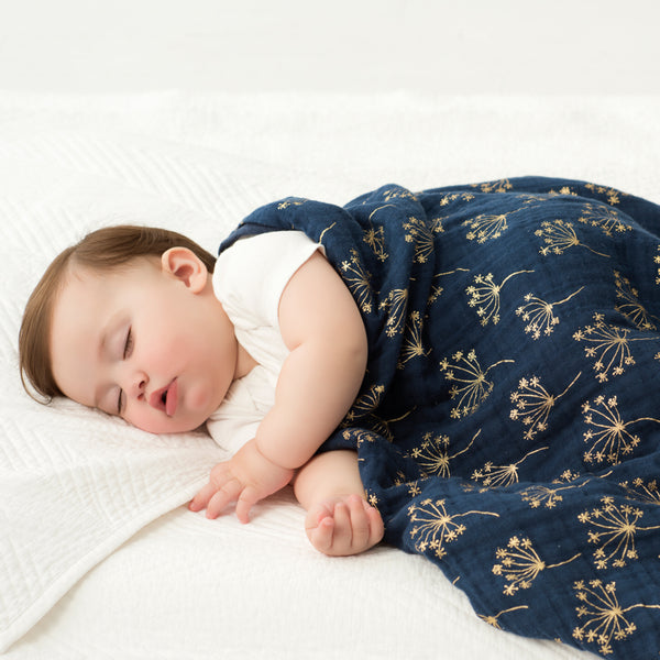 Aden + Anais | Metallic Gold Deco Dandelion | Dream Blanket