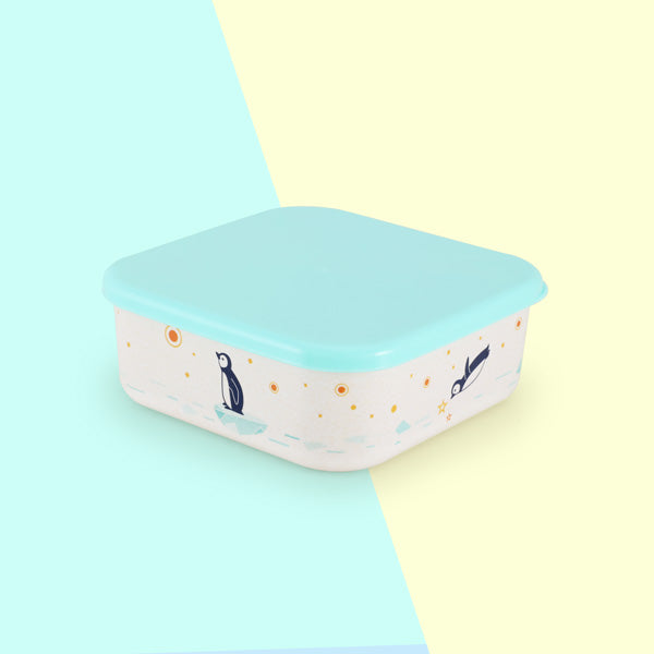 Iceberg Lunch Box - SuperPetit Design - Cute Penguins - Baby, toddler and kids food storage.