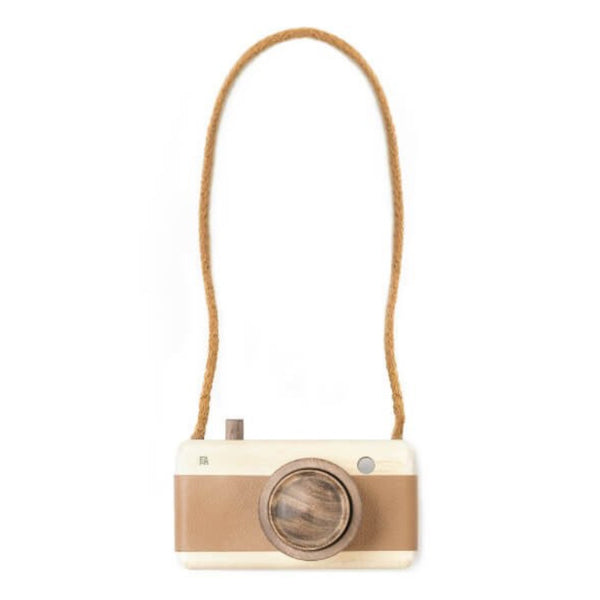 Wooden + Leather Camera | Hazelnut
