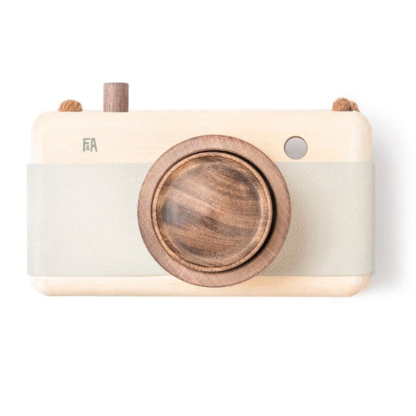 Wooden + Leather Camera | Mineral Green
