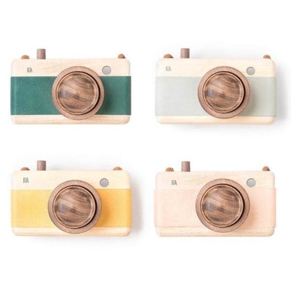 Wooden + Leather Camera | Pink