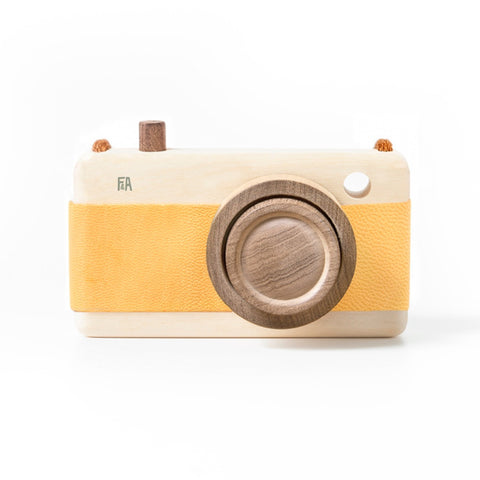Wooden + Leather Camera | Sunflower
