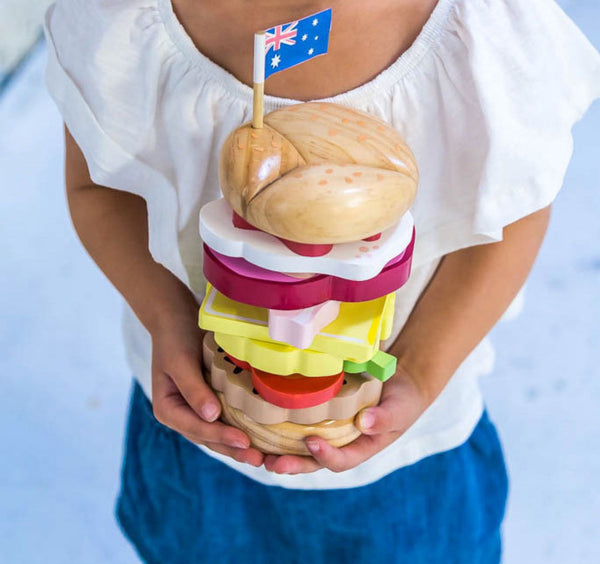 Stacking Burger | Wooden Toy