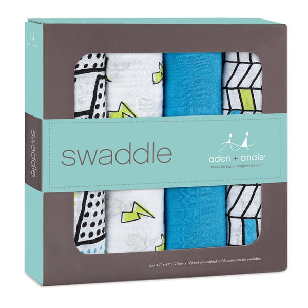 Whiz Kid | Classic Swaddles | 4 Pack