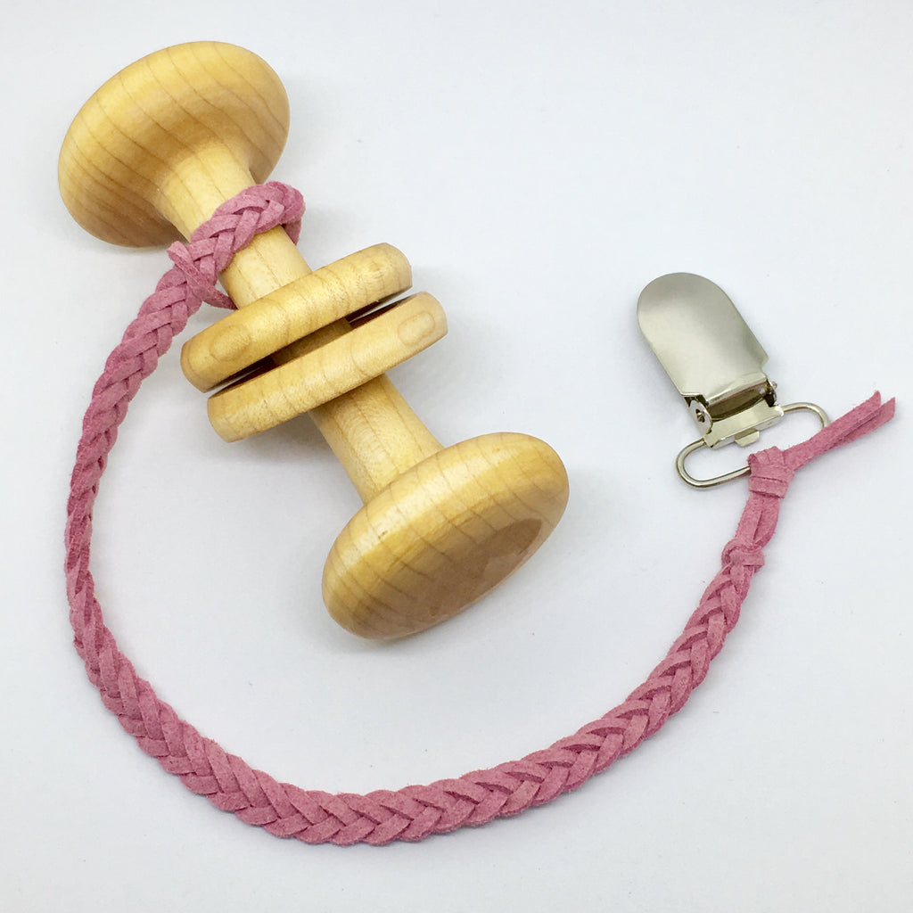 Dusty Pink | Toy Saver | Braided Faux Leather