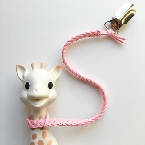 Baby Pink | Toy Saver | Braided Faux Leather