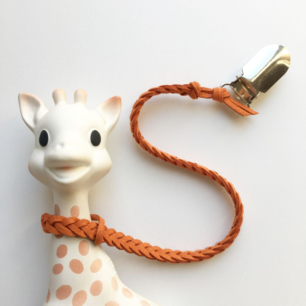 Burnt Orange | Toy Saver | Braided Faux Leather
