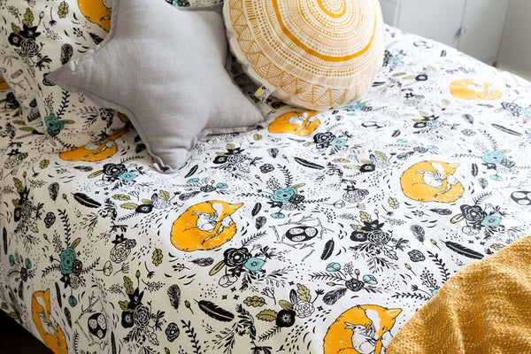 babee & Me | Field of Friends Organic Cotton Doona Cover and Pillowcase Set