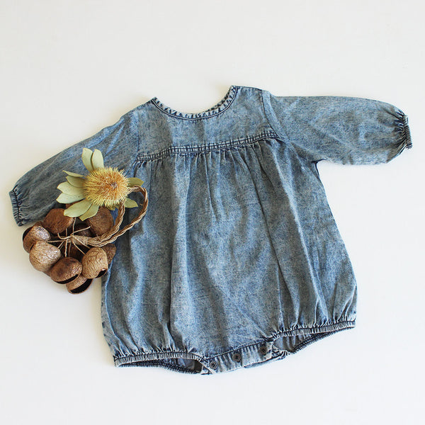 CHAMBRAY ROMPER | WILD EARTH