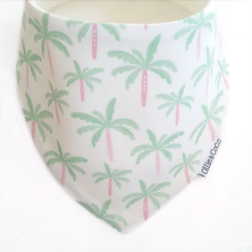 Summer Palm Trees | Organic Bandana Bib