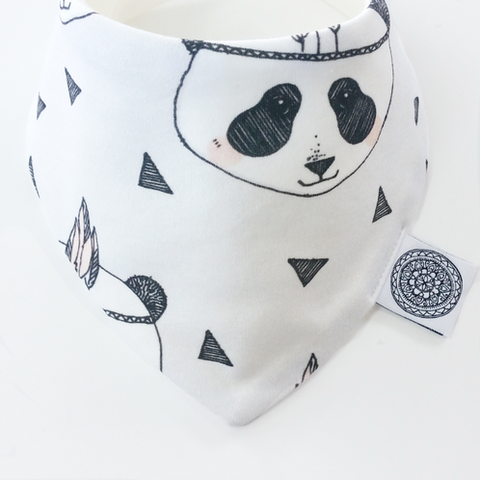 Indian Panda | Organic Bandana Bib