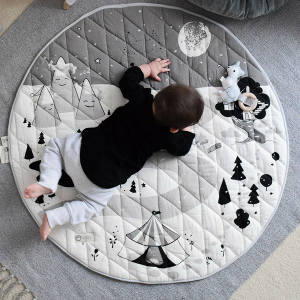 Kippi Organic Play Mat | Night [Monochrome]