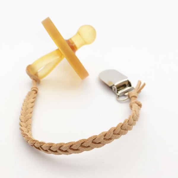 Caramel | Dummy Clip | Braided Faux Leather