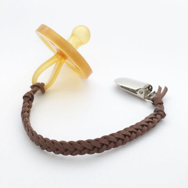 Chocolate Brown | Dummy Clip | Braided Faux Leather
