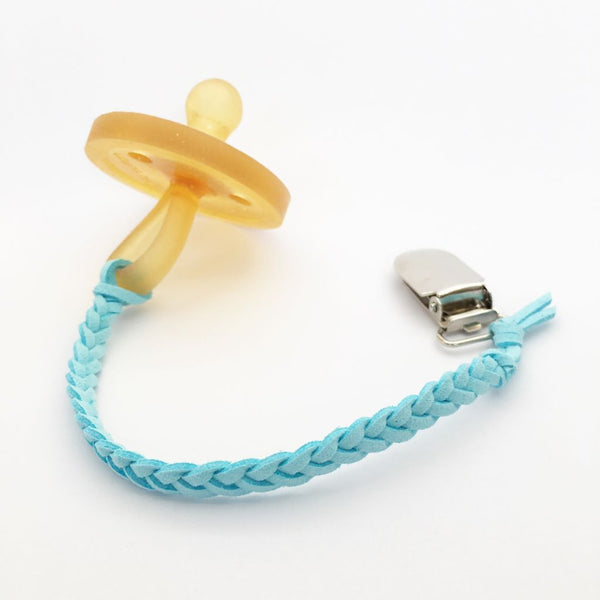 Sky Blue | Dummy Clip | Braided Faux Leather