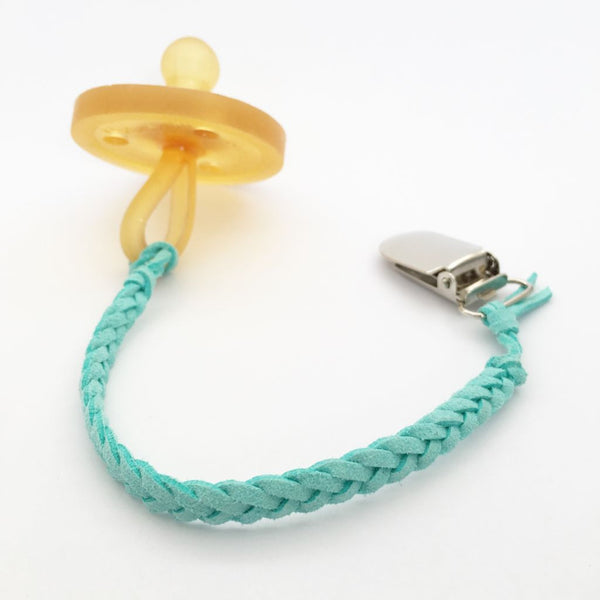 Turquoise | Dummy Clip | Braided Faux Leather