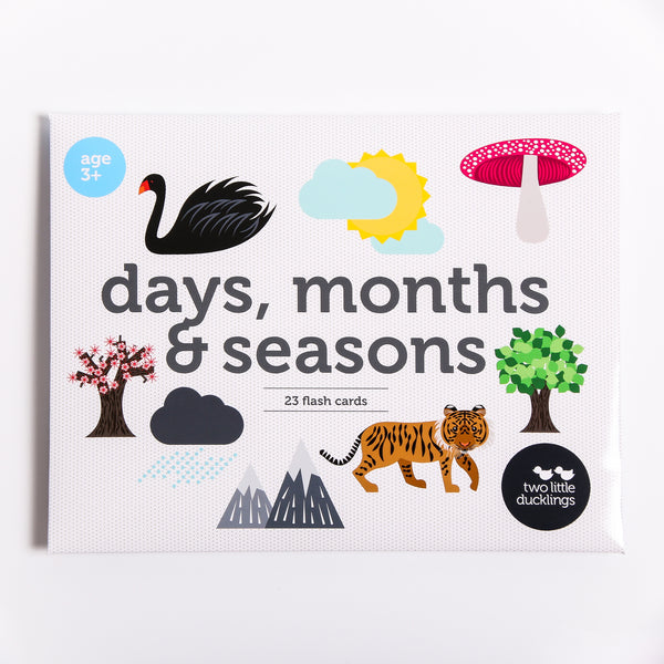 Two Little Ducklings | Days, Months & Seasons | Flash Cards 2017