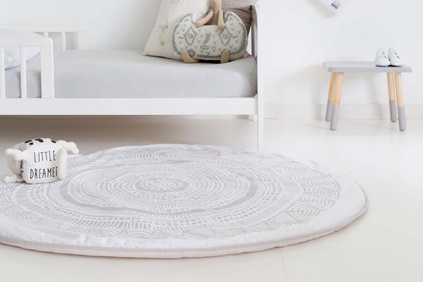 Wakul Aboriginal Art Organic Playmat Monochrome Nursery Decor Baby Room Toy Fun Gift Baby Shower