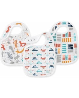 Aden + Anais | ZUTANO | Pup In Tow Classic Snap Bibs | 3-Pack