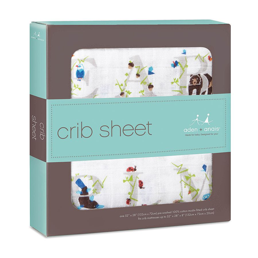 Aden + Anais | PAPER TALES CLASSIC | Single Cot Sheet