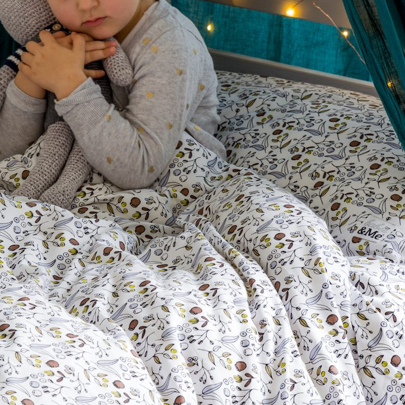 Babee & Me | Botanical Organic Cotton Doona Cover and Pillowcase Set