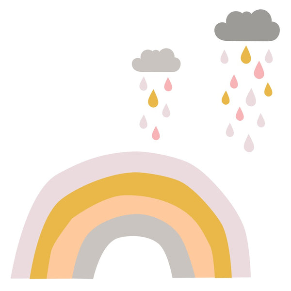 Rainbows & Raindrops | Fabric Wall Decal