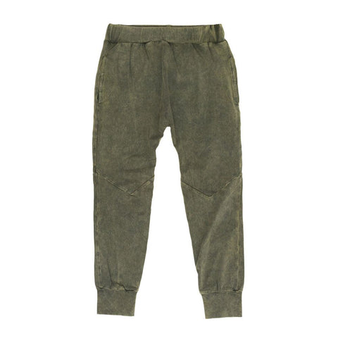 Green Stonewash Drop Crotch Pant | Children Of The Tribe