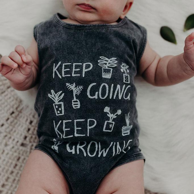 KEEP GROWING SINGLET ONESIE | WILD EARTH