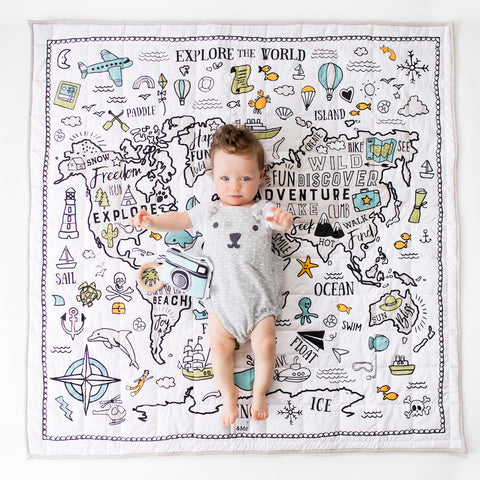 World Explorer | Extra Large Organic Playmat