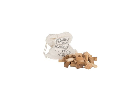 Wooden Story | Natural Blocks in Cotton Sack, 100 pieces