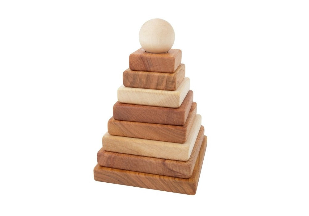 Wooden Story | Natural Pyramid Stacker