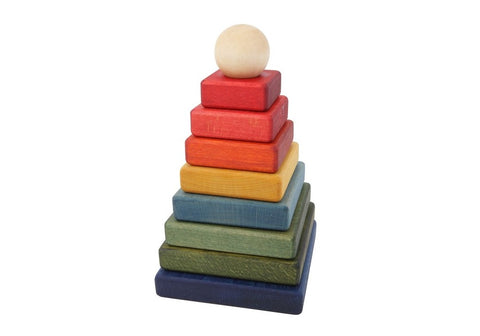 Wooden Story | Rainbow Pyramid Stacker
