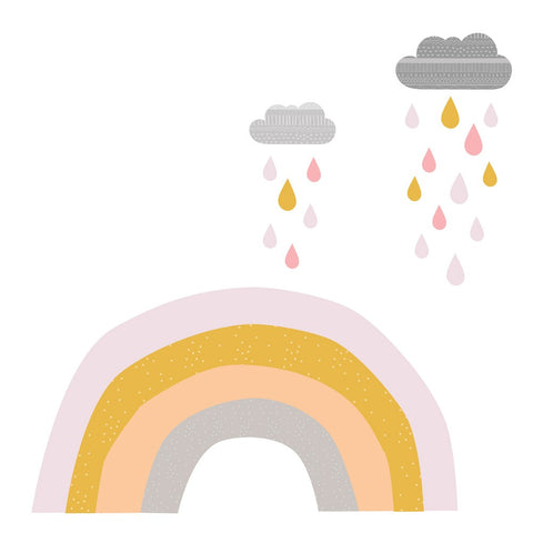 Rainbows & Raindrops | Mini Fabric Decals