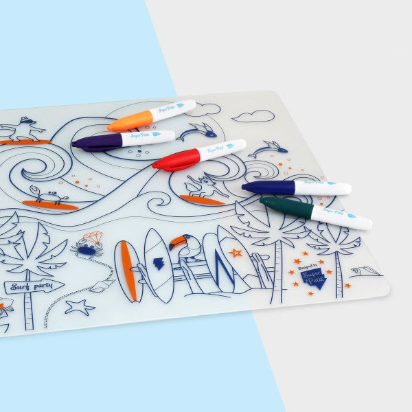 SuperPetit Table Mat Set | Surf Party