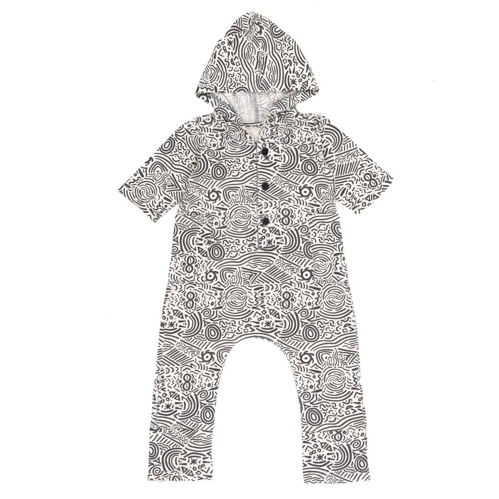 STONE THROW HOODED ONESIE | WILD EARTH