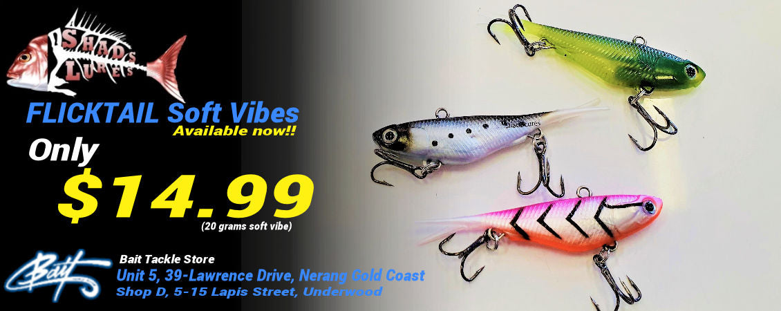 Shads Lures Flicktail Soft Plastic