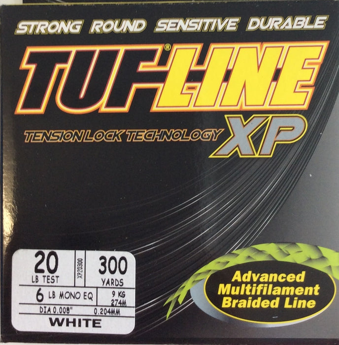 Fishing Line, TUF-LINE XP 20lb, 300yd White - bait-tackle-store