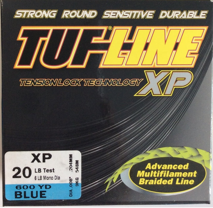 Fishing Line, TUF-LINE XP 20lb, 600yd Blue - bait-tackle-store