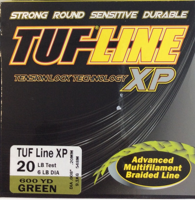 Fishing Line, TUF-LINE XP 20lb, 600yd Green - bait-tackle-store