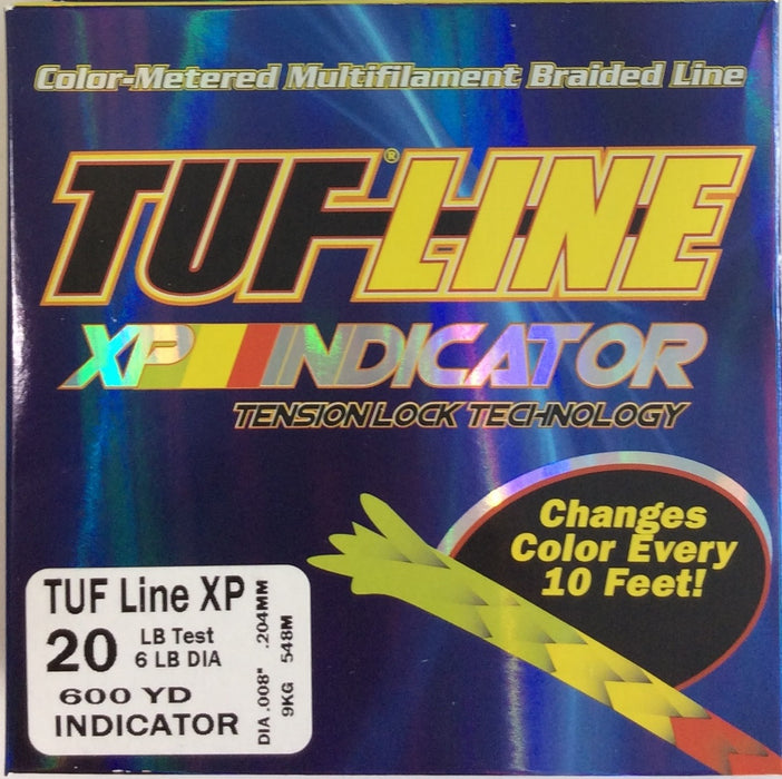 Fishing Line, TUF-LINE XP 20lb, 600yd Indicator - bait-tackle-store