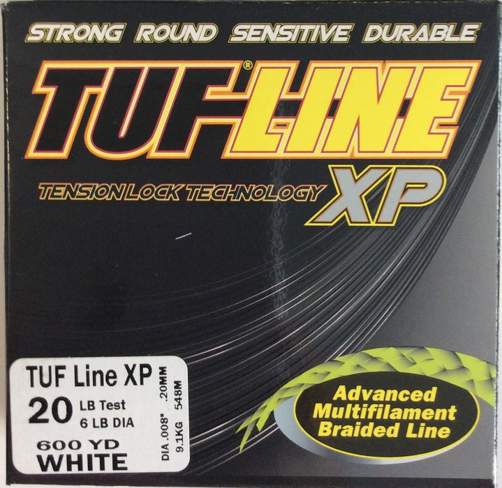 Fishing Line, TUF-LINE XP 20lb, 600yd White - bait-tackle-store