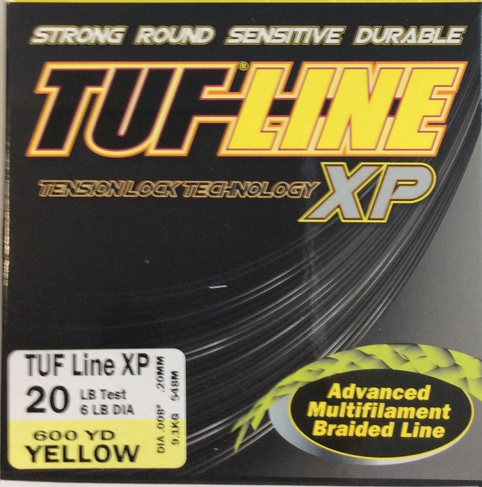 Fishing Line, TUF-LINE XP 20lb, 600yd Yellow - bait-tackle-store