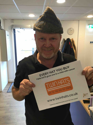 Eastenders Steve McFaden (Phil) supports Twin Hats