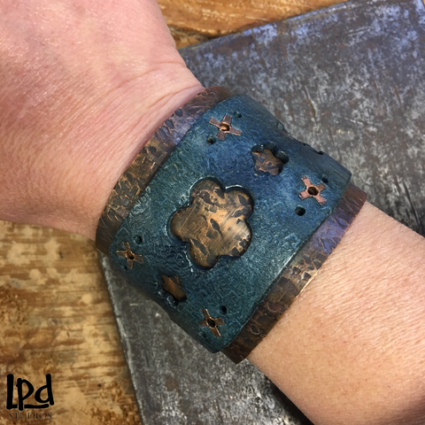 Leather and Copper Cuffs
