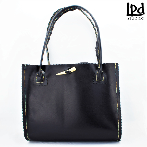 LPDstudio Blog: What's New - Rhino Square Tote in Black Leather