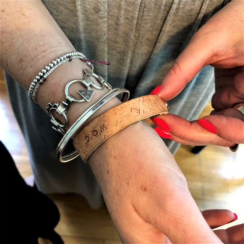 Leather Wrap Bracelet- student work