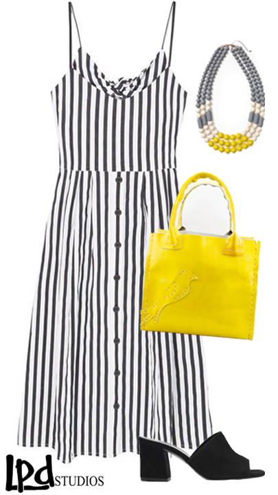 LPDstudios Blog: Style Board - Citrus Yellow Mini Shopper Leather Tote