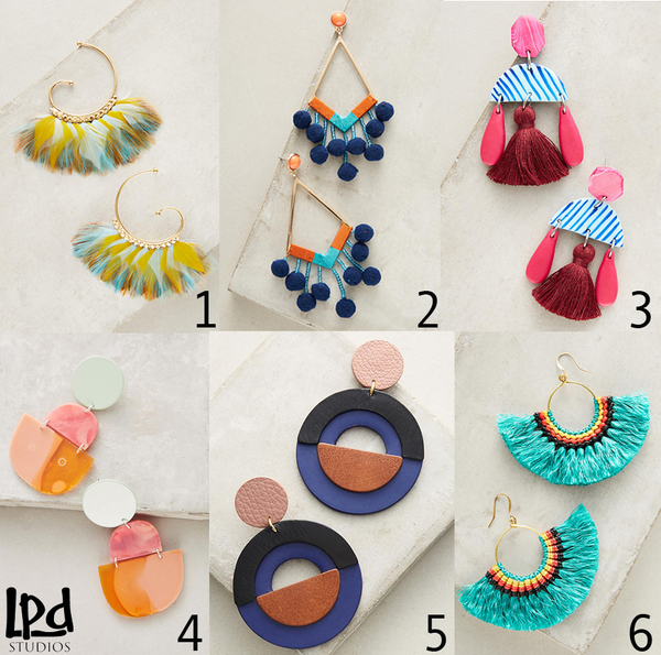 LPDstudios Blog: Mood Board - Anthro Earrings Galore
