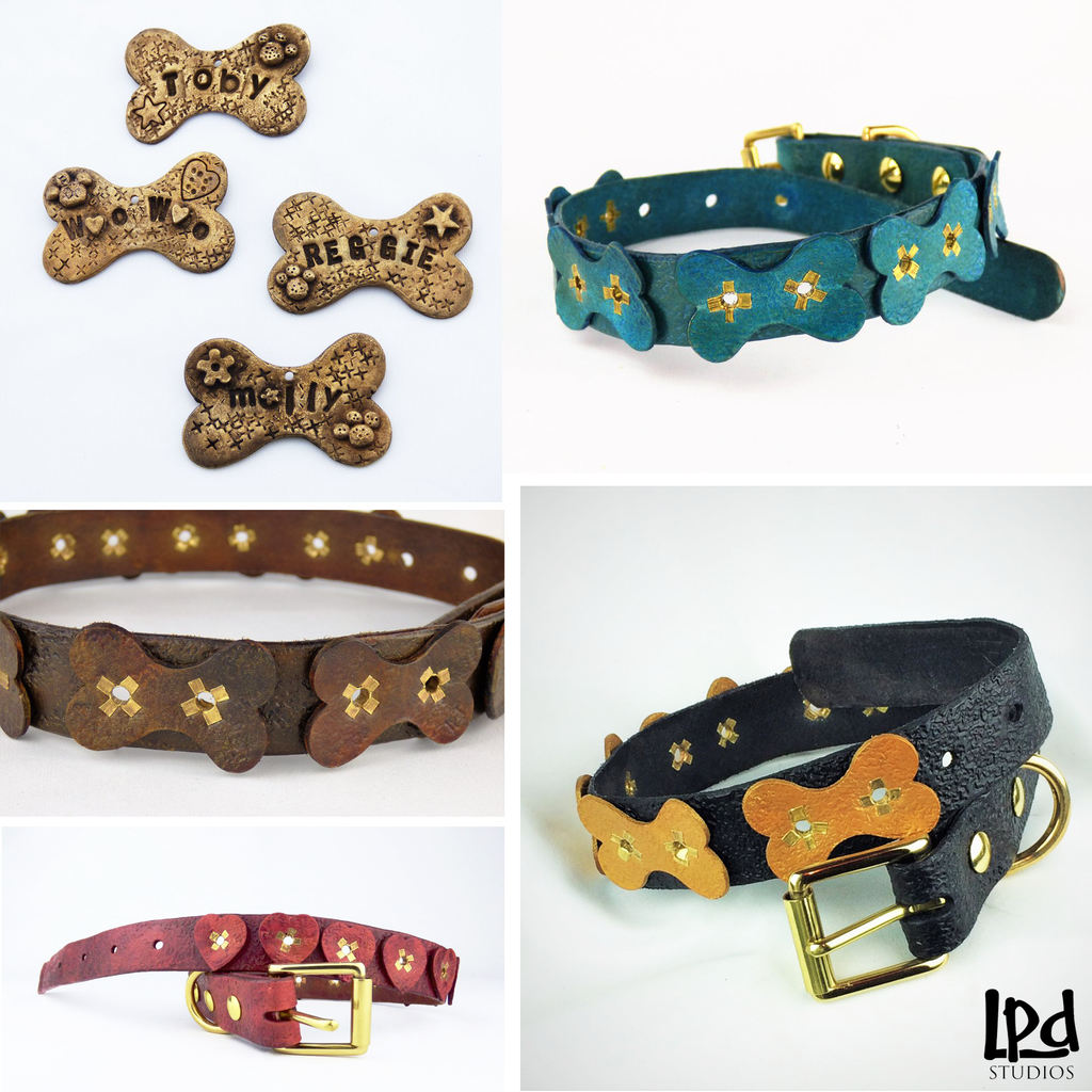 LPDstudios Blog: Pet Gift Collection - LPDstudios was created by designer artist Lisa Parmer Ditty. All of her designs are handcrafted in her Pennsylvania studio. She has merged her love of leather, metal and metal clay to create a unique collection of custom leather handbags, metal and leather jewelry and even pet collars. Follow her studio blog and see what she is designing next.